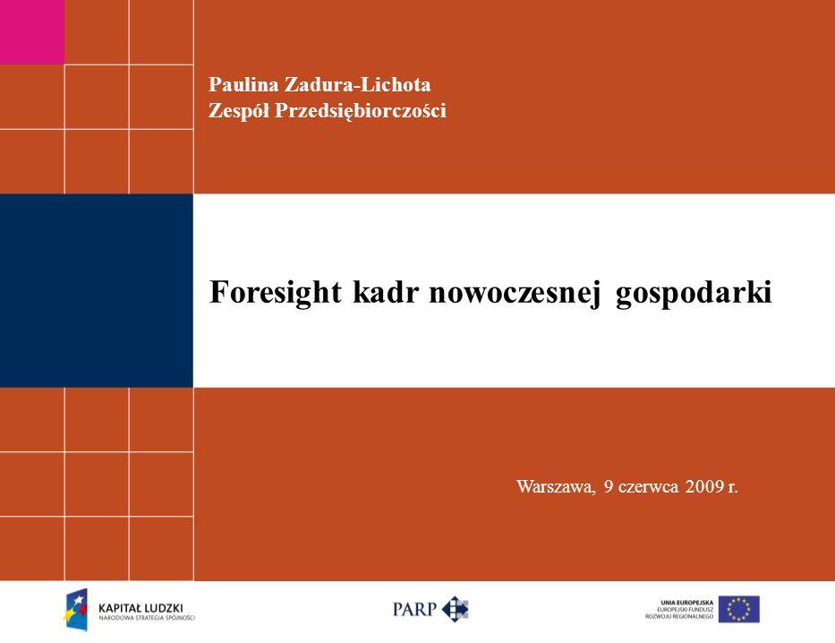 Paulina Zadura-Lichota Zespół Przedsiębiorczości Warszawa, 9 czerwca 2009 r.