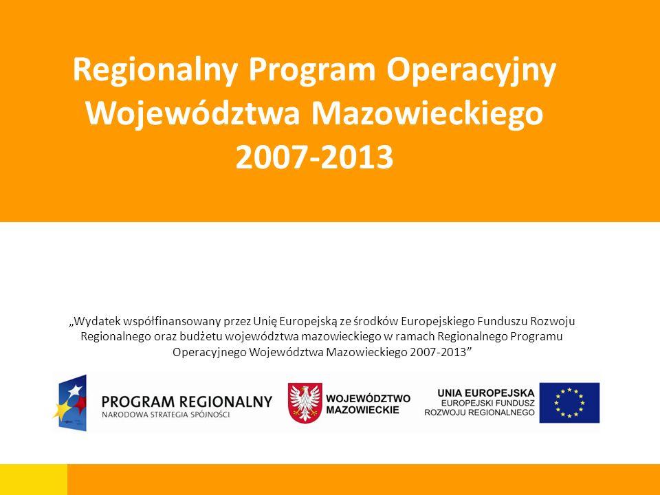 1 Mazowiecka Jednostka Wdrażania Programów UnijnychMarta Uzdowska Wydatek współfinansowany przez Unię Europejską ze środków Europejskiego Funduszu Roz