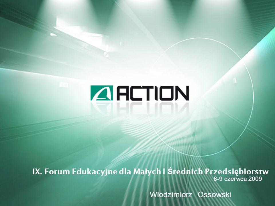 Grupa ACTION to jeden z wiodących podmiotów na rynku dystrybucji sprzętu IT w Polsce (drugi największy gracz rynkowy) oraz znaczący producent sprzętu komputerowego ACTION jest największym producentem i głównym dostawcą wysokowydajnych serwerów w Polsce Spółka działa na rynku od 18 lat, od 2006 roku jest notowana na GPW W ofercie ACTION jest ponad 15 200 produktów ACTION dysponuje bazą magazynową o łącznej powierzchni 21 200 m ² ACTION produkuje sprzęt IT pod własnymi markami – ActiveJet i ACTINA ACTION rozwija działalność na Ukrainie – sieć 15 sklepów oferujących sprzęt IT oraz RTV/AGD Spółka dywersyfikuje działalność poprzez a.pl (galeria internetowa) oraz Sferis (sieć detaliczna) DZIAŁALNOŚĆ FIRMY 2