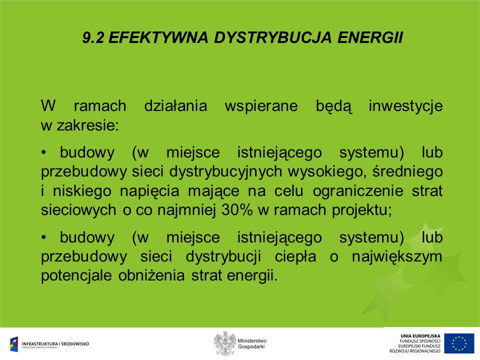 Minimalna wartość projektu – 20 mln PLN Maksymalna kwota wsparcia - 85% wydatków kwalifikowanych (luki finansowej), ale nie więcej niż 50 mln PLN Pomoc publiczna – formularze notyfikacyjne dotyczące pomocy publicznej zostały przesłane do Komisji Europejskiej.