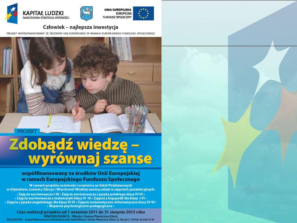 Projekt Miasta i Gminy Piwniczna-Zdrój dla uczniów klas I-VI w 3 szkołach podstawowych z terenów wiejskich Miasta i Gminy Piwniczna-Zdrój.