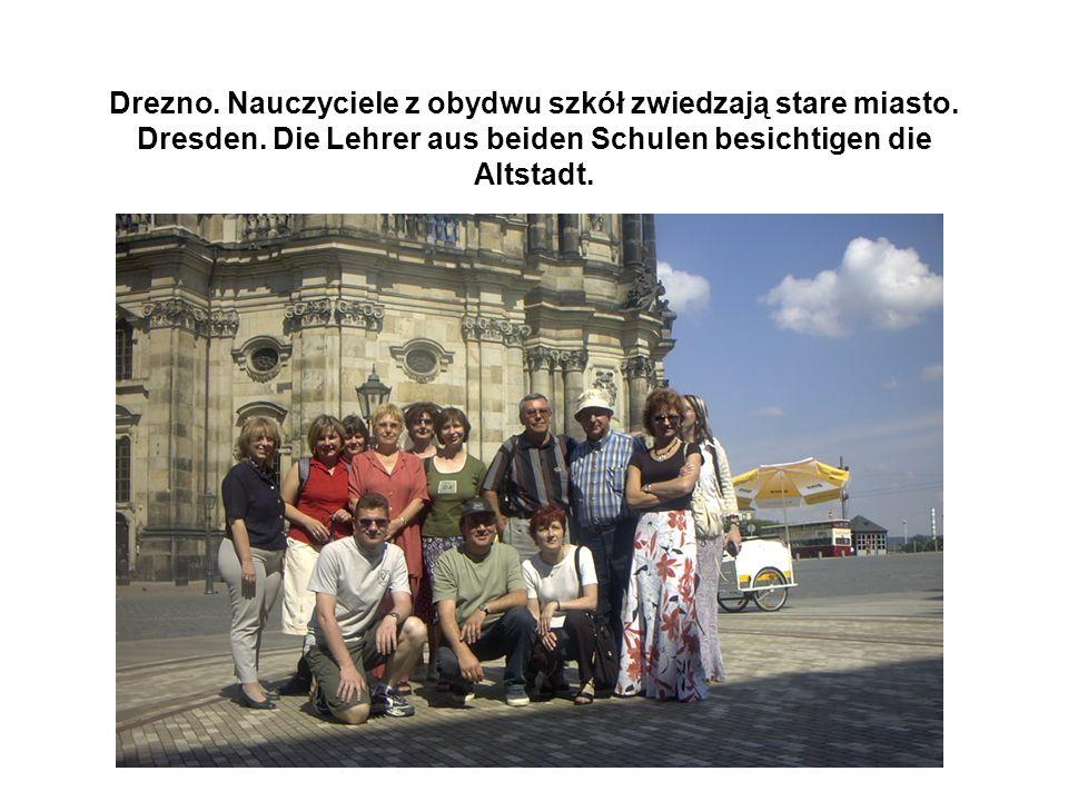 Drezno.Nauczyciele zwiedzają Galerię Zwinger. Dresden.