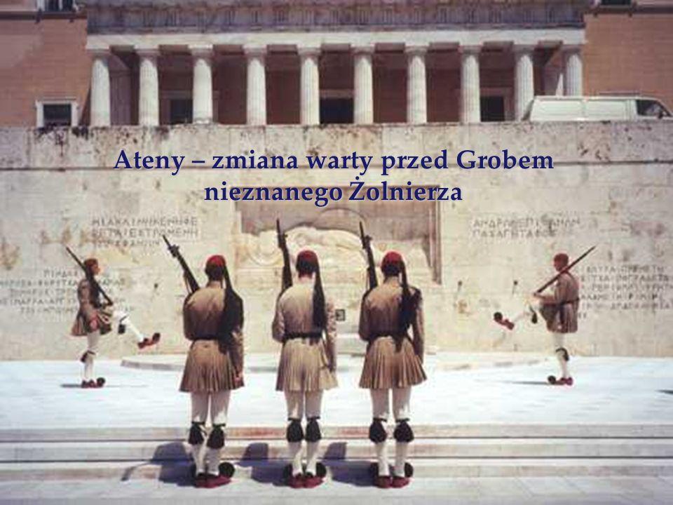 Ateny – zmiana warty przed Grobem nieznanego Żolnierza
