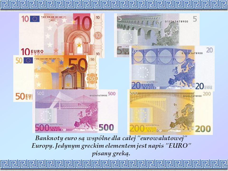 Banknoty euro są wspólne dla całej