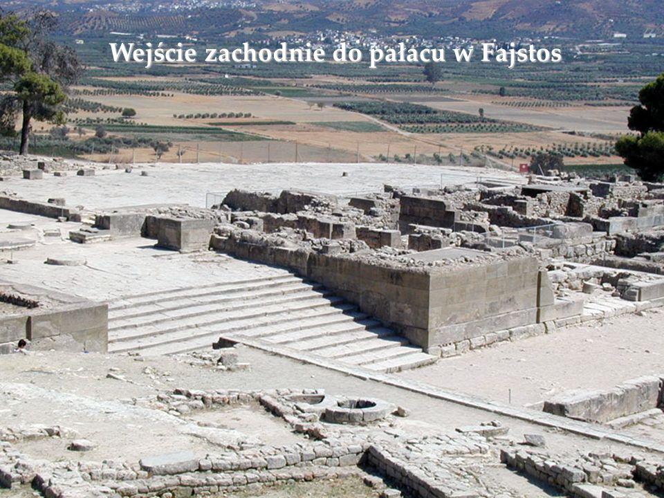 Wejście zachodnie do pałacu w Fajstos