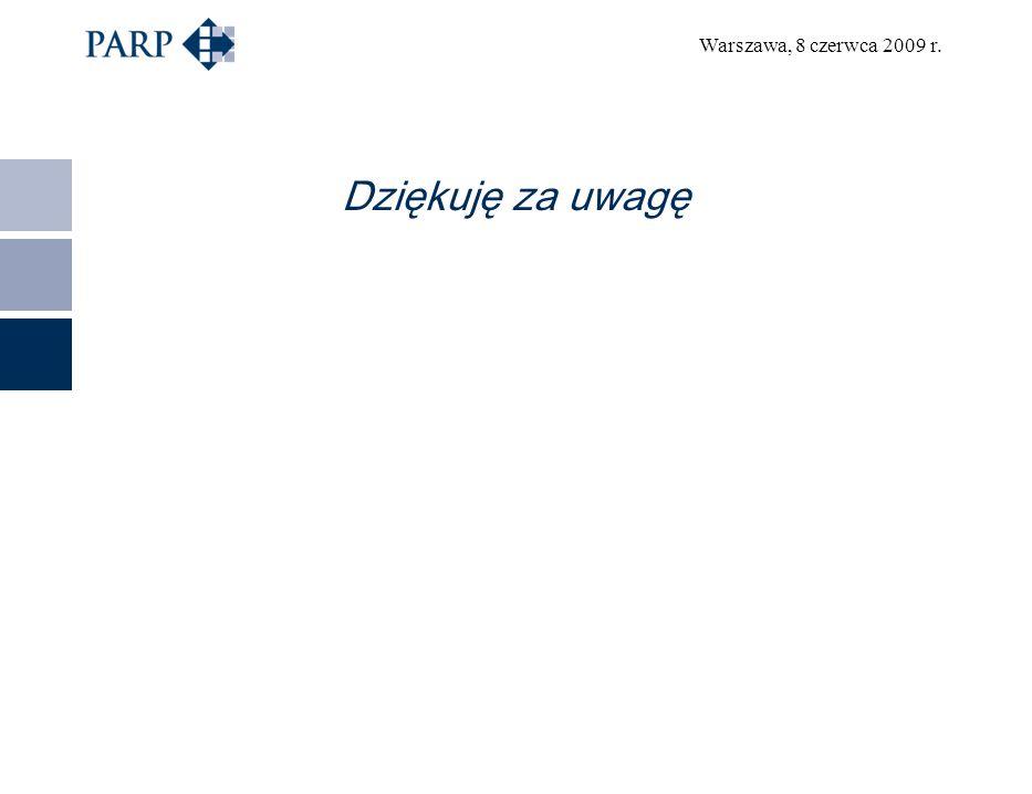Warszawa, 8 czerwca 2009 r. Dziękuję za uwagę