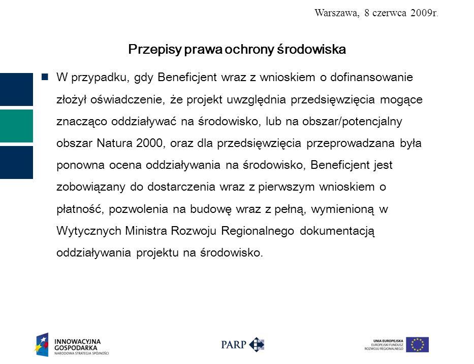 Warszawa, 8 czerwca 2009r.