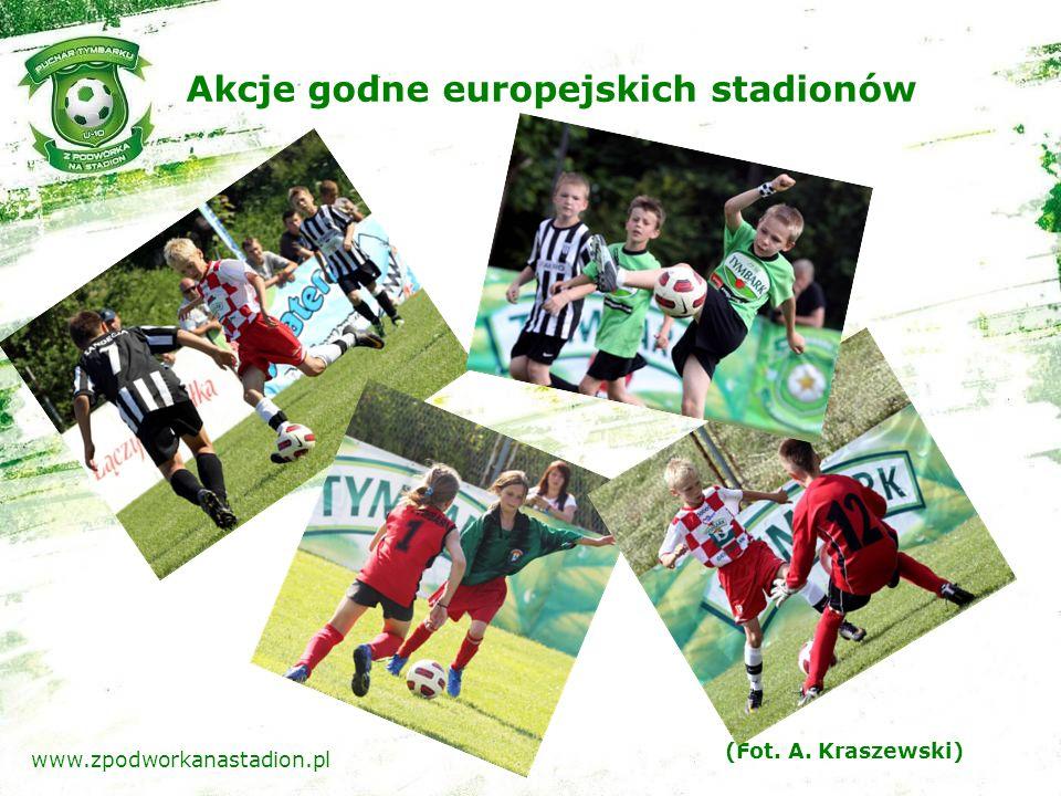 Akcje godne europejskich stadionów (Fot. A. Kraszewski) www.zpodworkanastadion.pl