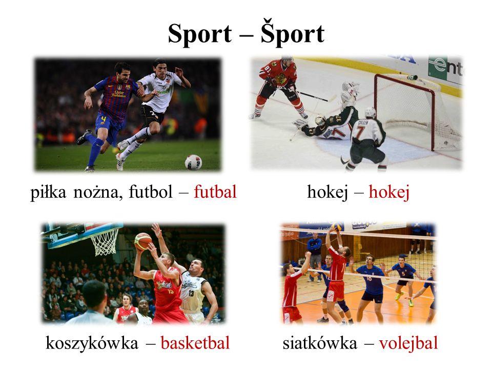 Sport – Šport piłka nożna, futbol – futbalhokej – hokej koszykówka – basketbalsiatkówka – volejbal