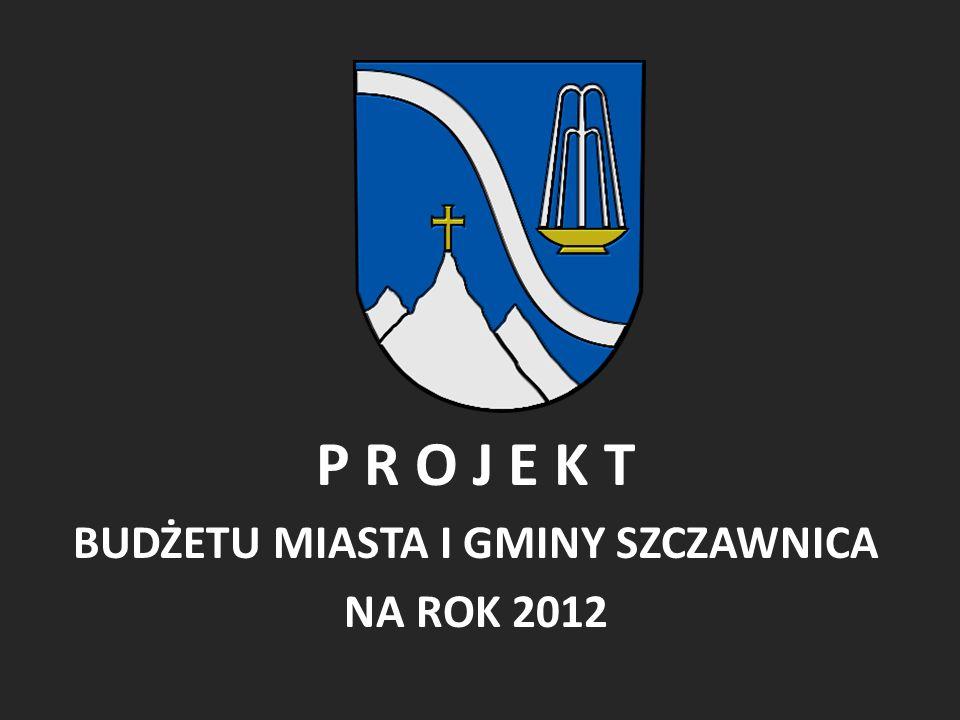 P R O J E K T BUDŻETU MIASTA I GMINY SZCZAWNICA NA ROK 2012