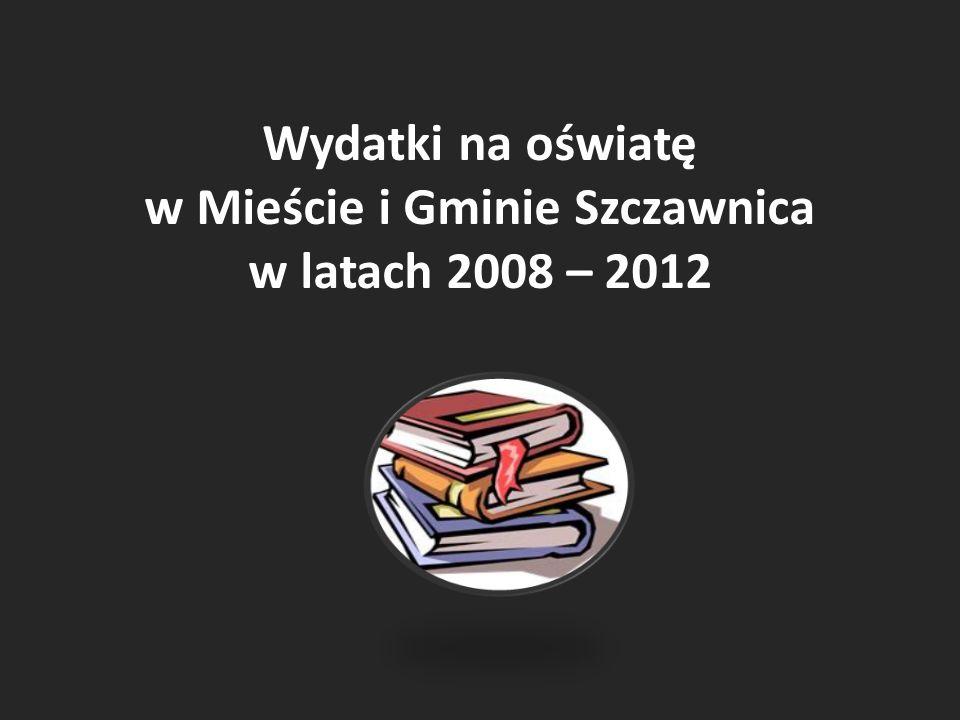 Wydatki na oświatę w Mieście i Gminie Szczawnica w latach 2008 – 2012