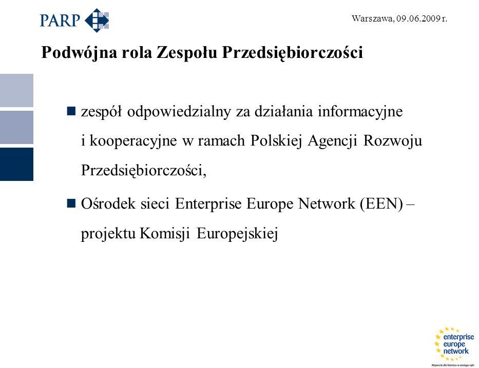Warszawa, 09.06.2009 r.Enterprise Europe Network – kim jesteśmy.