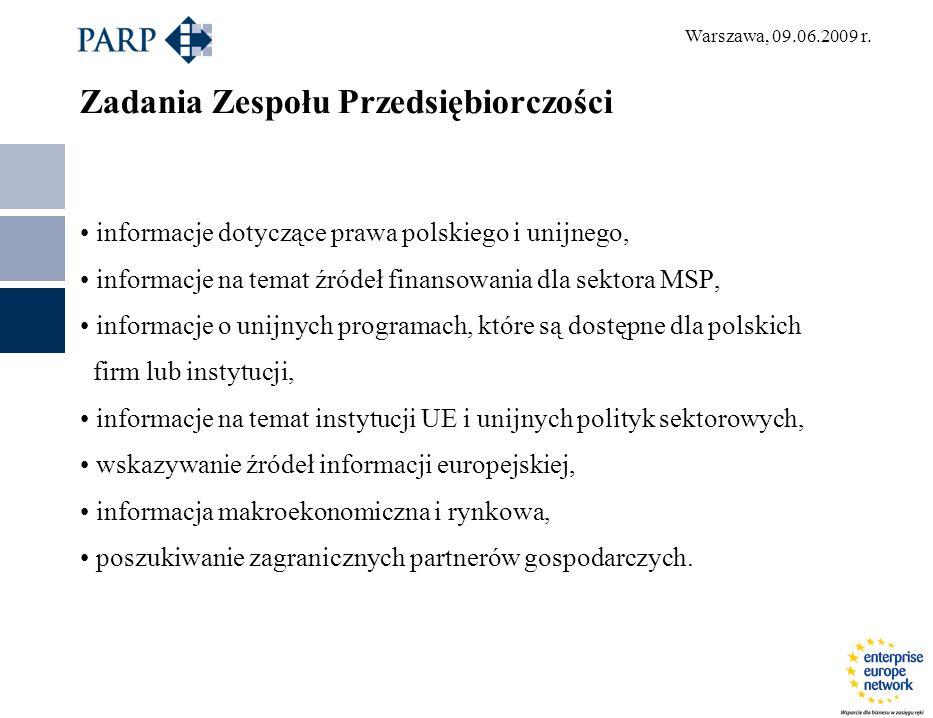 Warszawa, 09.06.2009 r.Plany rozwoju na lata 2009 - 2013 udział min.