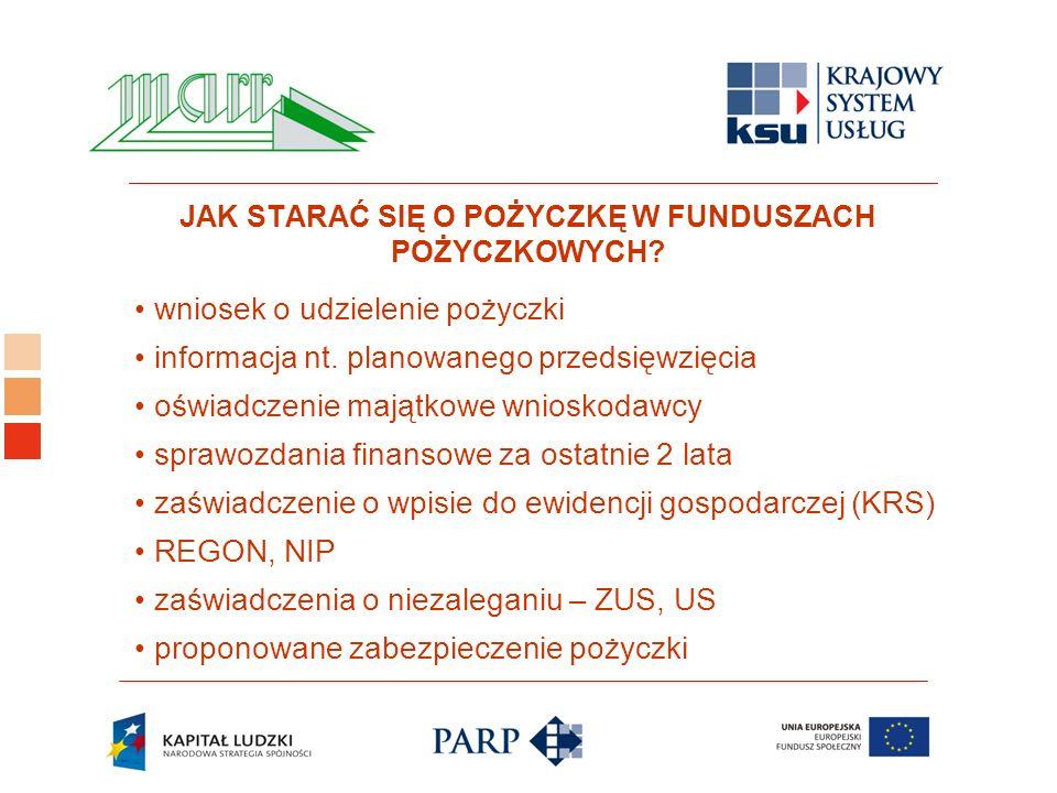Logo ośrodka KSU wniosek o udzielenie pożyczki informacja nt.