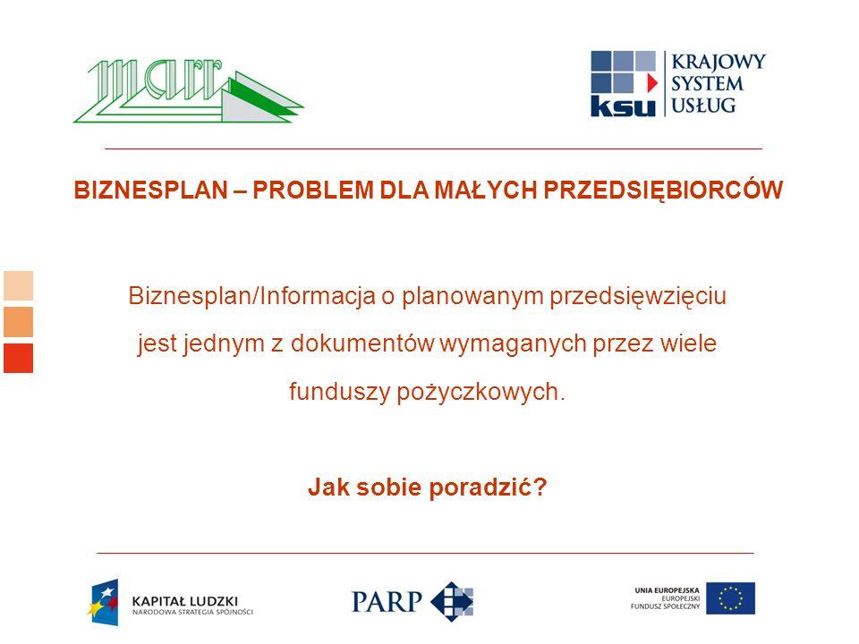 Logo ośrodka KSU Biznesplan/Informacja o planowanym przedsięwzięciu jest jednym z dokumentów wymaganych przez wiele funduszy pożyczkowych.