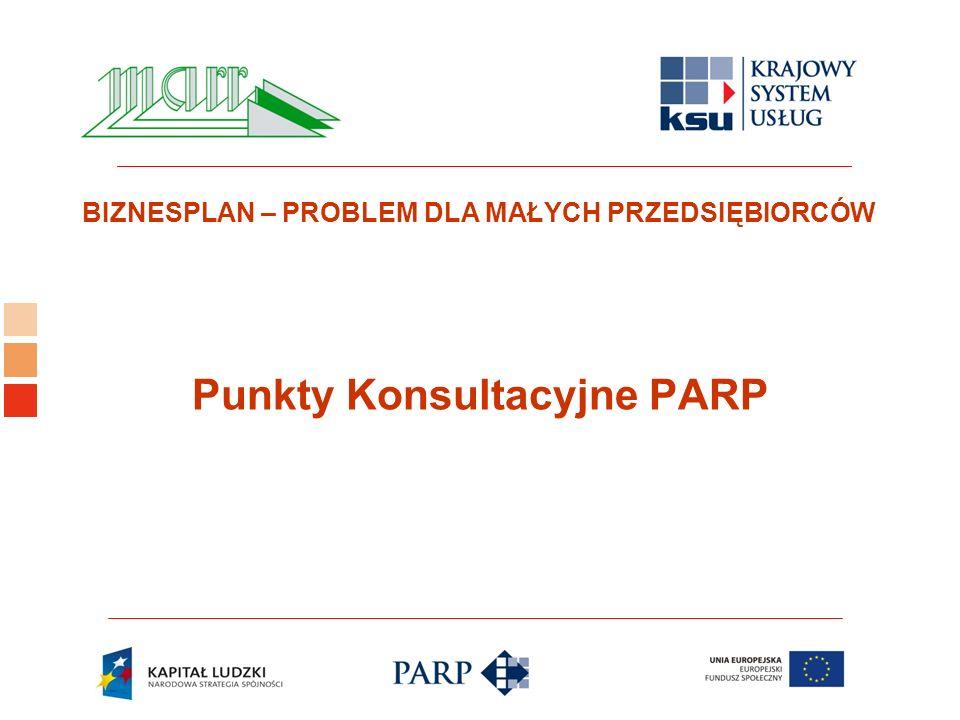 Logo ośrodka KSU BIZNESPLAN – PROBLEM DLA MAŁYCH PRZEDSIĘBIORCÓW Punkty Konsultacyjne PARP