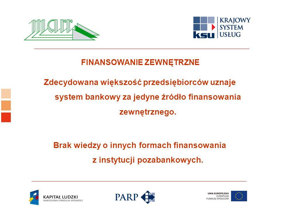 Logo ośrodka KSU Zdecydowana większość przedsiębiorców uznaje system bankowy za jedyne źródło finansowania zewnętrznego.