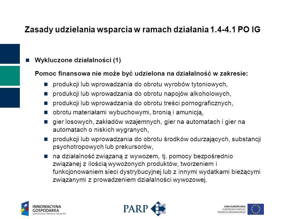 Podsumowanie konkursu pilotażowego w ramach działania 1.4-4.1 POIG dla MSP w 2008 r.
