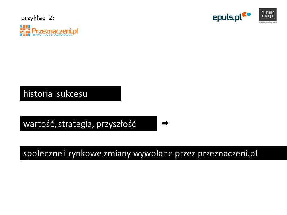 historia sukcesu wartość, strategia, przyszłość społeczne i rynkowe zmiany wywołane przez przeznaczeni.pl przykład 2: