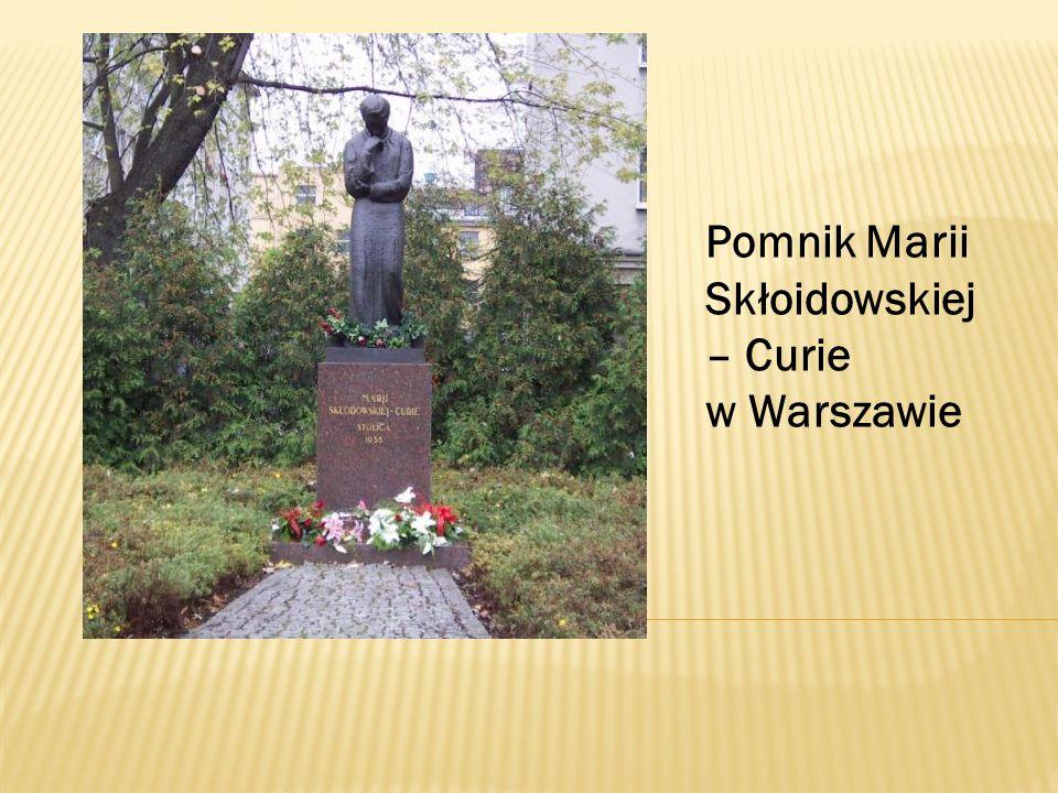 Pomnik Marii Skłoidowskiej – Curie w Warszawie
