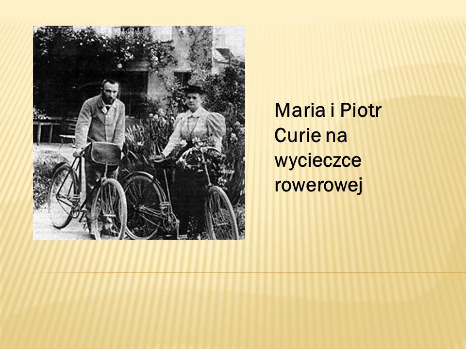Maria i Piotr Curie na wycieczce rowerowej
