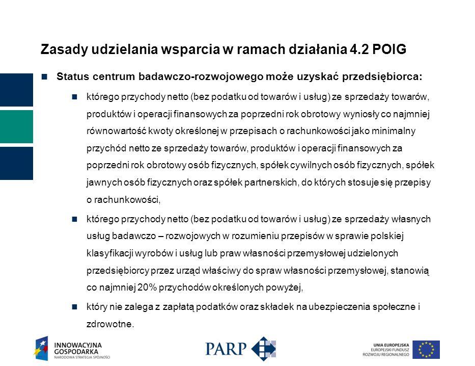 Zasady udzielania wsparcia w ramach działania 4.2 POIG Promotor Projektów Innowacyjnych (PPI) Celem działania Promotorów Projektów Inwestycyjnych jest stworzenie przedsiębiorcom przyjaźniejszego systemu wnioskowania o wsparcie w ramach działań 4.2 i 4.4 POIG.