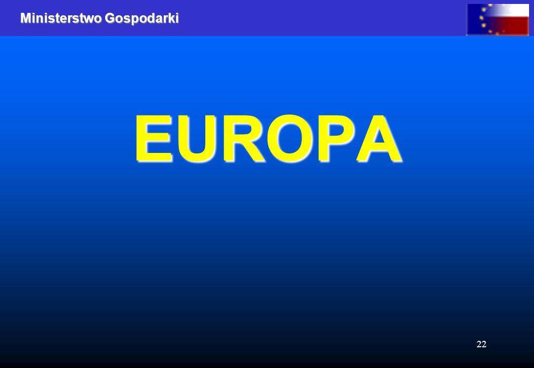 Ministerstwo Gospodarki 22 EUROPA