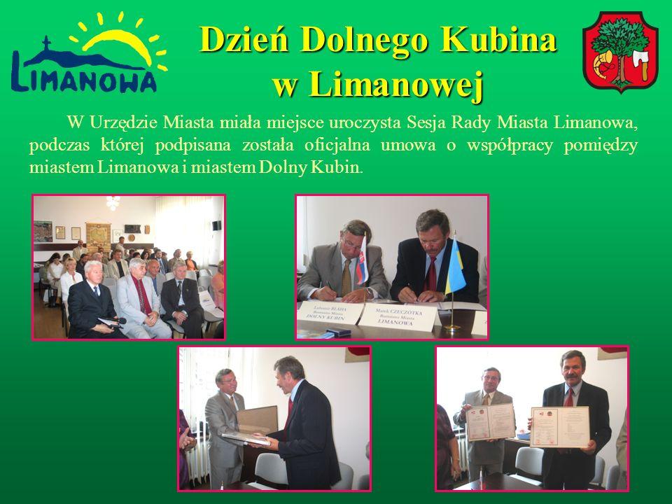 W Urzędzie Miasta miała miejsce uroczysta Sesja Rady Miasta Limanowa, podczas której podpisana została oficjalna umowa o współpracy pomiędzy miastem Limanowa i miastem Dolny Kubin.
