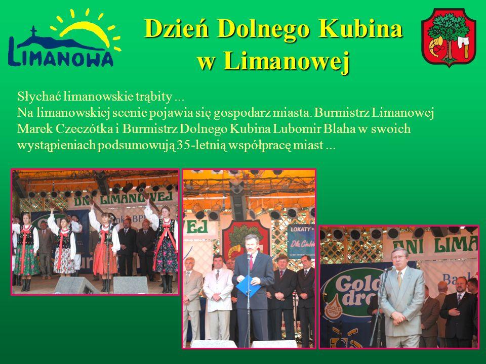 Dzień Dolnego Kubina w Limanowej Wspólne przedsięwzięcie realizowane przez miasto Limanowa i Dolny Kubin zacieśniło kontakty pomiędzy mieszkańcami obydwu miejscowości.