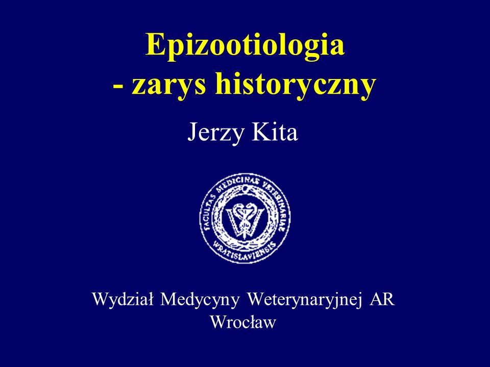 Termin epizootiologia Pochodzi od słów greckich: - epi- przez, na - zoon- zwierzę - logos- słowo, nauka Etymologicznie oznacza naukę o zjawiskach chorobowych większej liczby zwierząt.