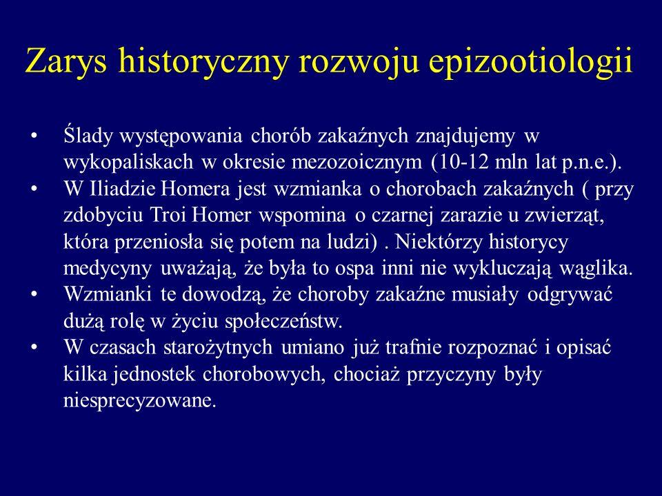 Pojawianie się epidemii i epizootii przypisywano siłom nadprzyrodzonym.