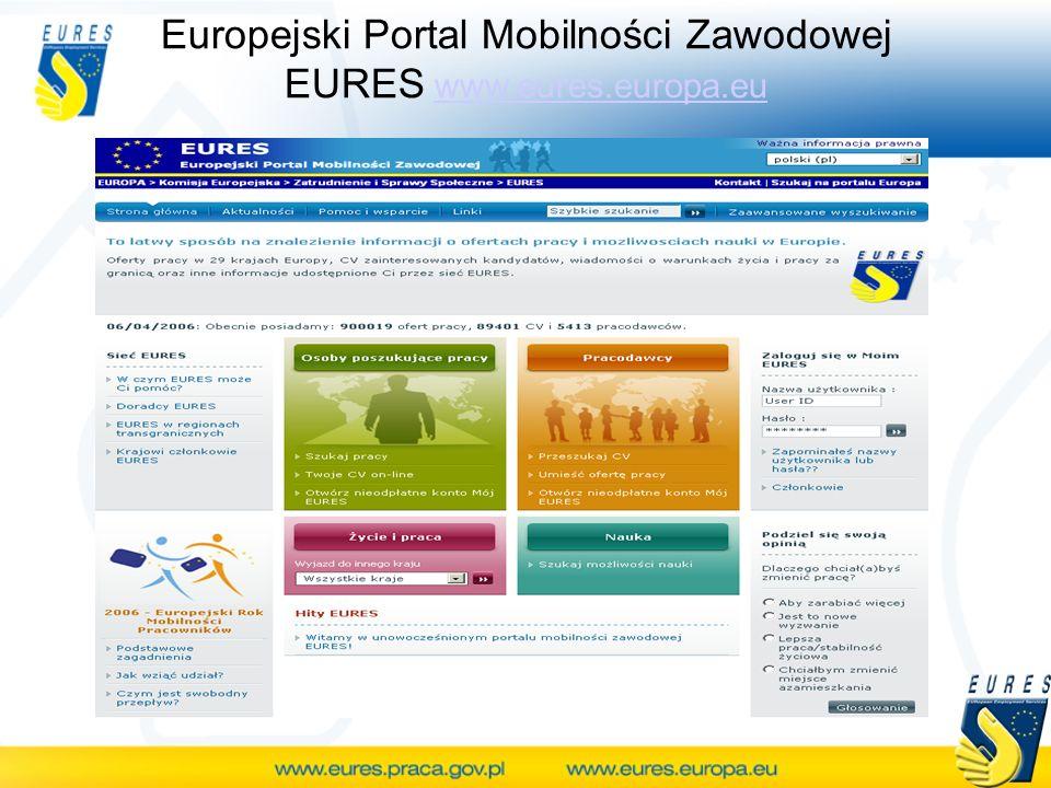 Europejski Portal Mobilności Zawodowej EURES www.eures.europa.euwww.eures.europa.eu