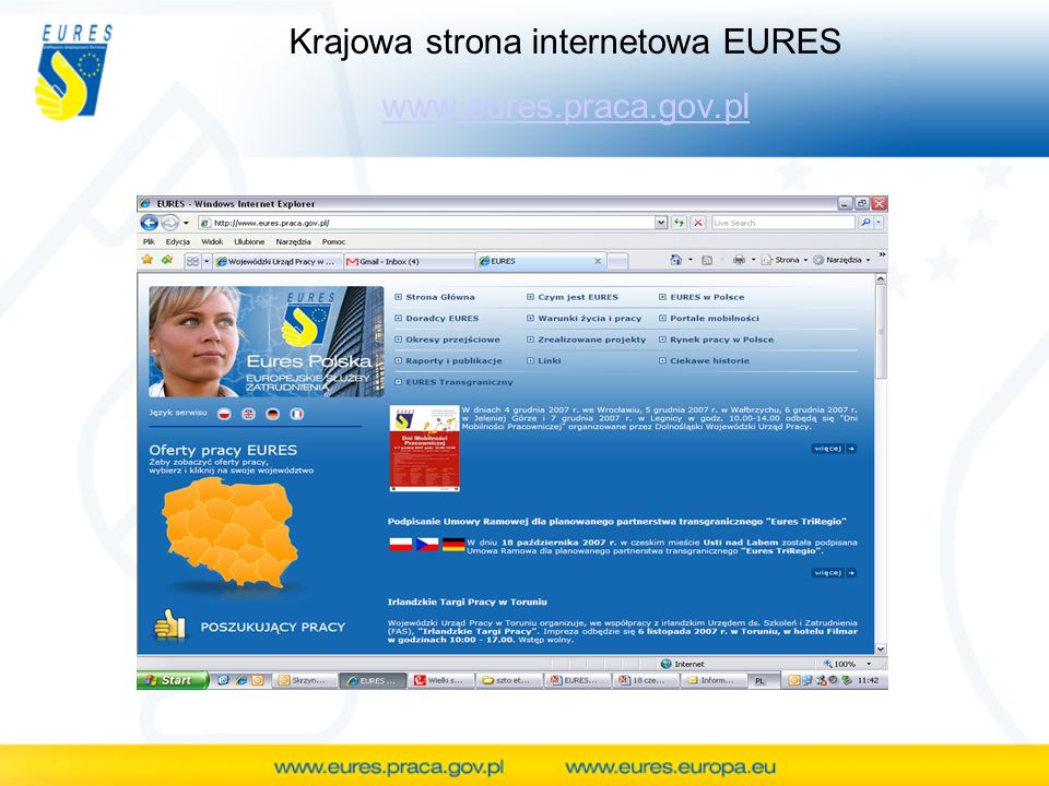 Krajowa strona internetowa EURES www.eures.praca.gov.pl www.eures.praca.gov.pl