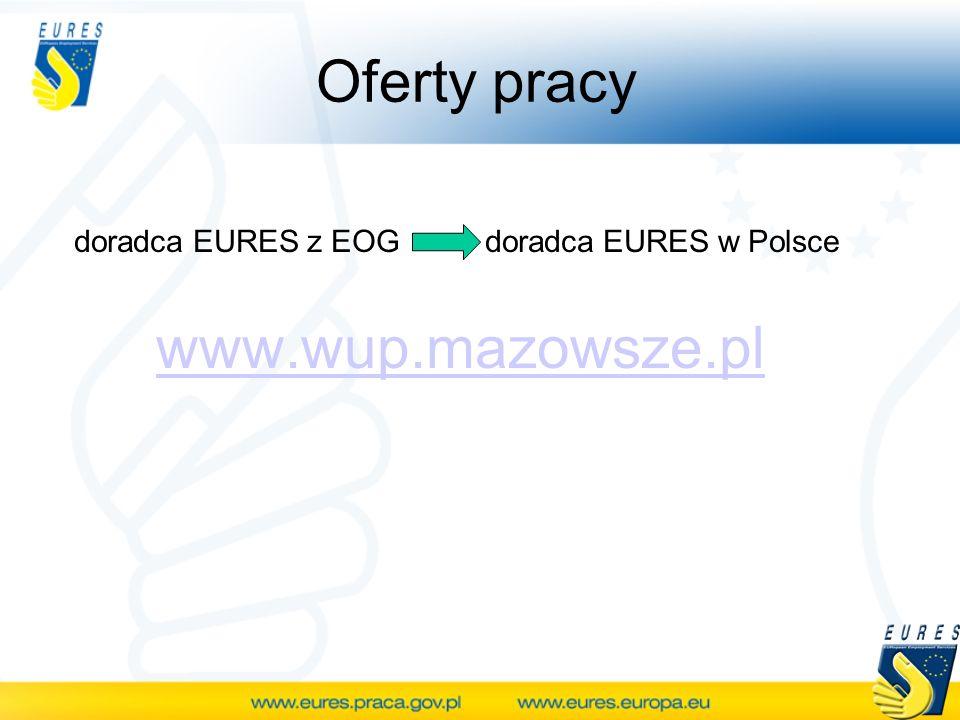 Oferty pracy doradca EURES z EOG doradca EURES w Polsce www.wup.mazowsze.pl