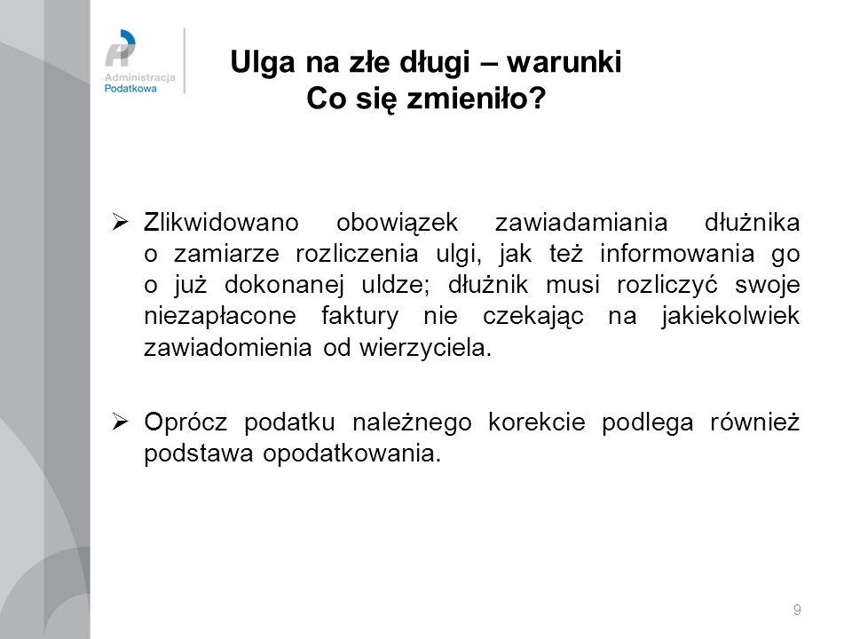 20 Ulga na złe długi – sankcja Do art.