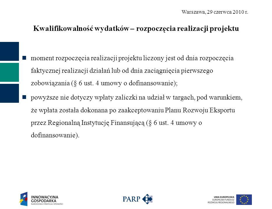 Warszawa, 29 czerwca 2010 r.Zakres i tryb zmian w projekcie (§ 3 ust.