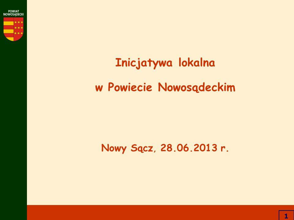 1 Inicjatywa lokalna w Powiecie Nowosądeckim Nowy Sącz, 28.06.2013 r.