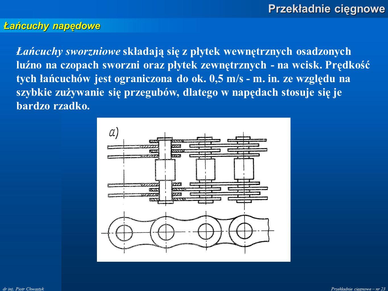 Przekładnie cięgnowe – nr 23 Przekładnie cięgnowe dr inż.