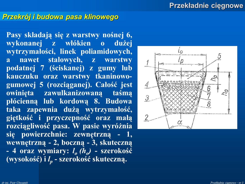 Przekładnie cięgnowe – nr 3 Przekładnie cięgnowe dr inż.