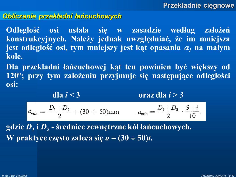 Przekładnie cięgnowe – nr 37 Przekładnie cięgnowe dr inż.
