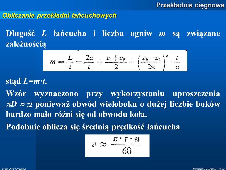 Przekładnie cięgnowe – nr 38 Przekładnie cięgnowe dr inż.