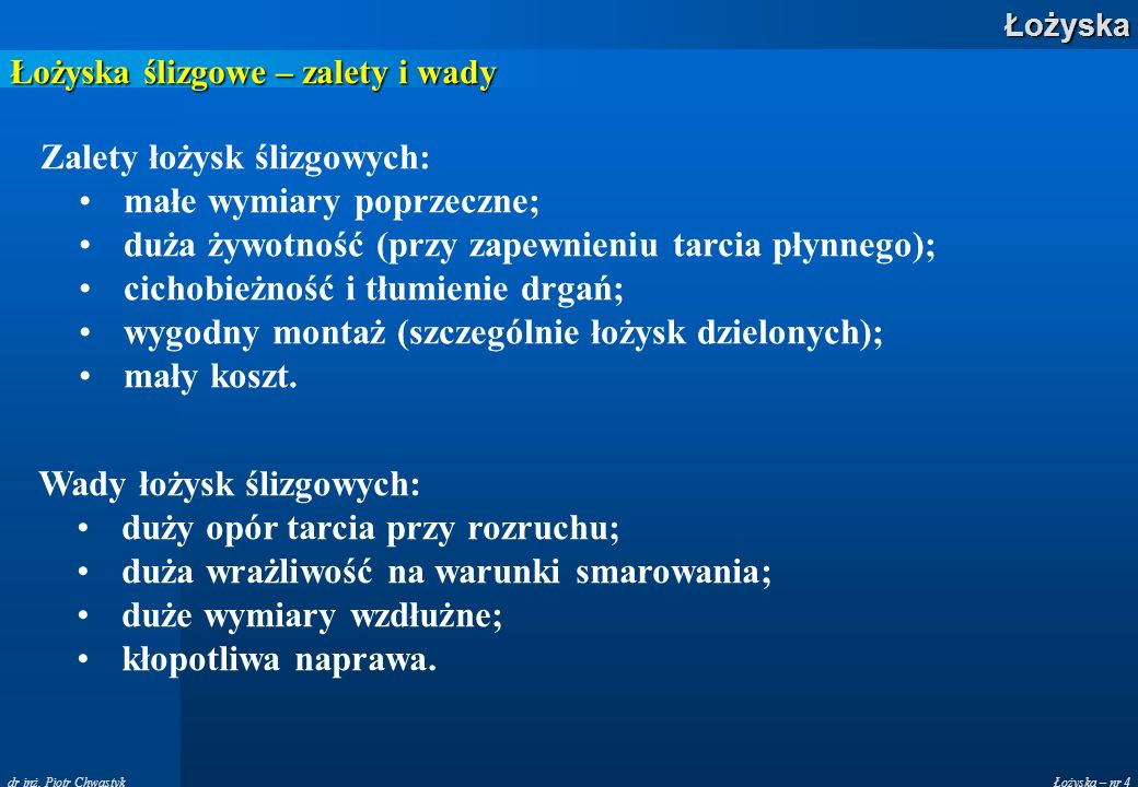 Łożyska – nr 25Łożyska dr inż.
