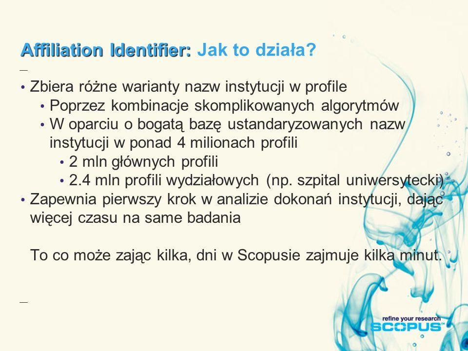 Affiliation Identifier: Affiliation Identifier: Jak to działa.