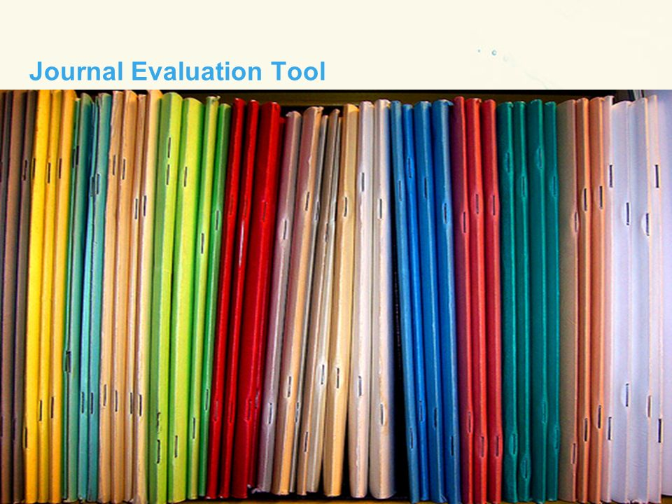 Journal Evaluation Tool