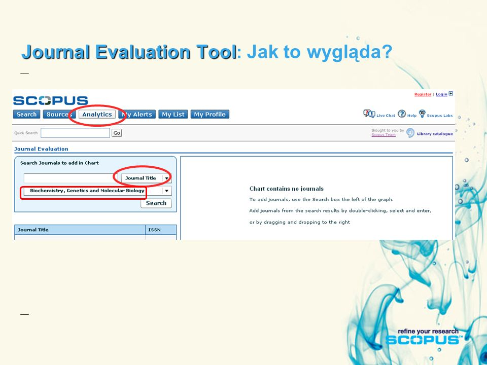 Journal Evaluation Tool Journal Evaluation Tool : Jak to wygląda