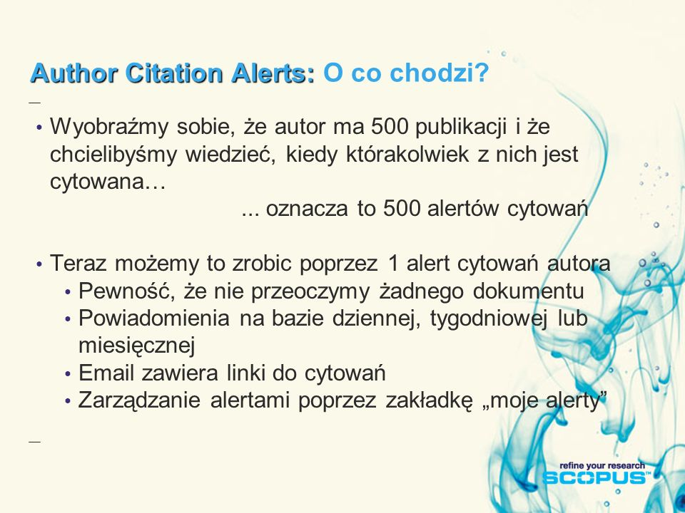 Author Citation Alerts: Author Citation Alerts: O co chodzi.