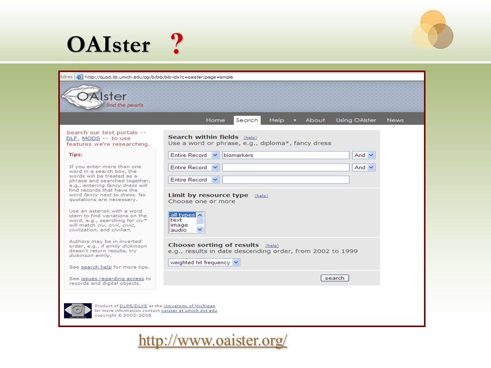 OAIster http://www.oaister.org/ ?