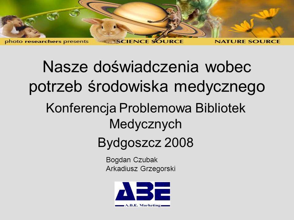 Baza streszczeniowa jest punktem wyjścia Baza streszczeniowa Czasopisma (Ovid, Ebsco, Proquest, Elsevier, Springer, itd) Książki (różne platformy) Bazy danych: Micromedex, Katalog OPAC