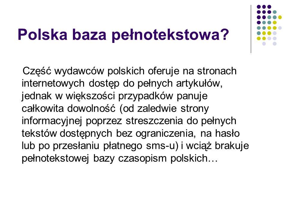 Polska baza pełnotekstowa.