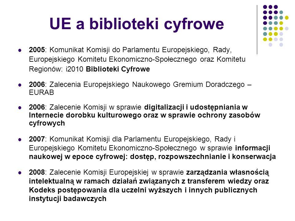 UE a biblioteki cyfrowe 2005: Komunikat Komisji do Parlamentu Europejskiego, Rady, Europejskiego Komitetu Ekonomiczno-Społecznego oraz Komitetu Region